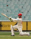 Phillip Hughes slashes through the off side, Victoria v South Australia, Sheffield Shield, Melbourne, 3rd day, November 25, 2012