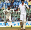 Pragyan Ojha finally removed Kevin Pietersen for 186