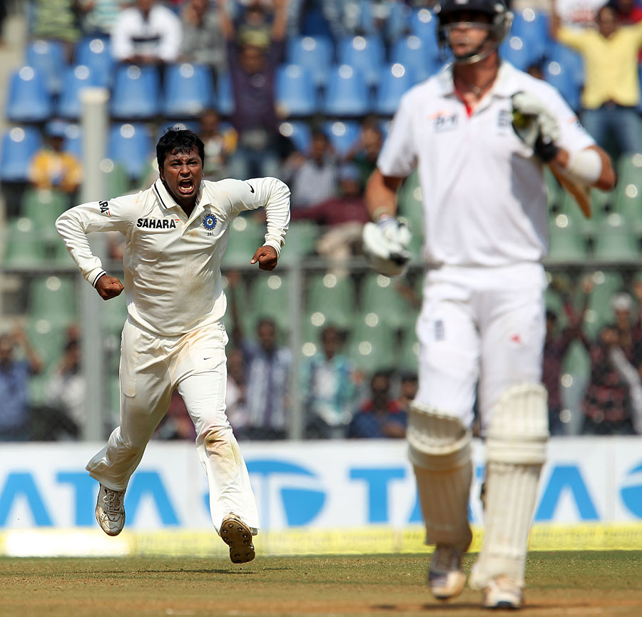 Pietersen lost his wicket to left-arm spinner Pragyan Ojha three times in the series: twice in the first Test in Ahmedabad, and then in Mumbai after making 186