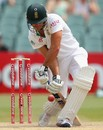 Faf du Plessis defends resolutely on the fourth morning