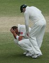 Peter Siddle is exhausted after the draw, Australia v South Africa, 2nd Test, Adelaide, 5th day, November 26, 2012