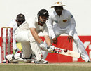 Daniel Flynn gets down to sweep, Sri Lanka v New Zealand, 2nd Test, Colombo, 2nd day, November 26, 2012