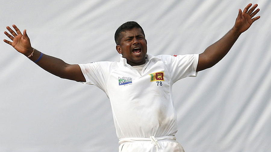 Rangana Herath appeals for a wicket