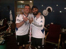 Graeme Swann and Monty Panesar in the England dressing room, India v England, 2nd Test, Mumbai, 4th day, Monday, November 26, 2012