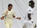 Tim Southee had Angelo Mathews edging to slip