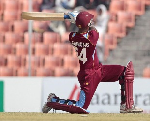 Lendl Simmons top-scored with 84, BCB XI v West Indians, Khulna, November 28, 2012