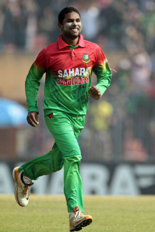 Sohag Gazi took four wickets on debut, Bangladesh v West Indies, 1st ODI, Khulna, November 30, 2012