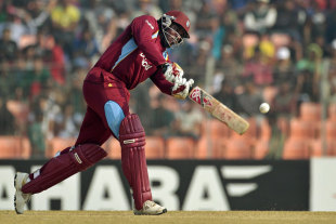 Chris Gayle was out for 35, Bangladesh v West Indies, 1st ODI, Khulna, November 30, 2012