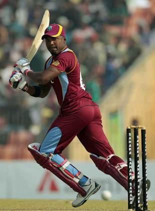 Darren Bravo cuts behind point, Bangladesh v West Indies, 1st ODI, Khulna, November 30, 2012