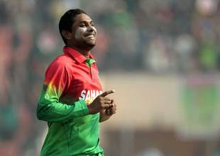 Sohag Gazi picked up four wickets on ODI debut, Bangladesh v West Indies, 1st ODI, Khulna, November 30, 2012