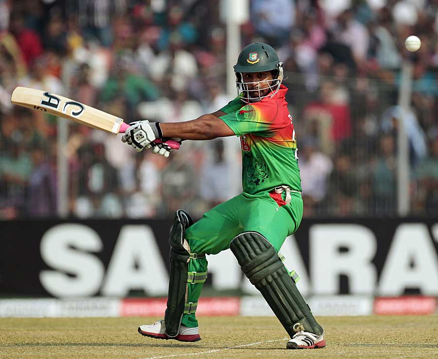 Tamim Iqbal cuts on his way to 58