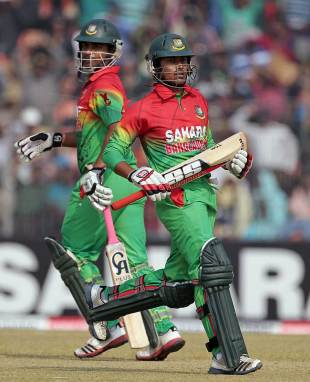 Tamim Iqbal and Anamul Haque added 88 for the opening wicket, Bangladesh v West Indies, 1st ODI, Khulna, November 30, 2012