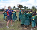 England spinner Holly Colvin coaching Kenyan children, Kenya