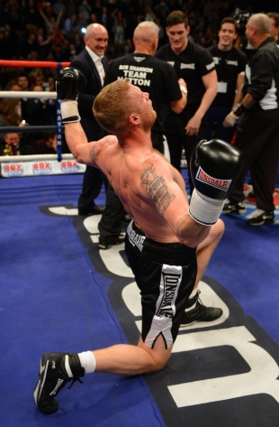 Andrew Flintoff after his fight, Manchester, November 30, 2012