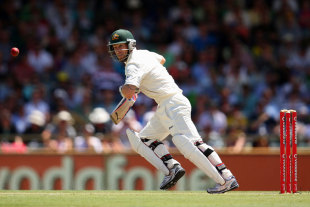 Matthew Wade top scored with 68 from No. 8, Australia v South Africa, 3rd Test, 2nd day, Perth, December 1, 2012