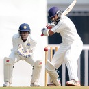Wasim Jaffer prepares to play a cut