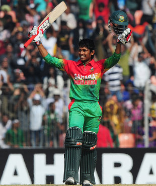 Anamul Haque became the third Bangladesh teenager to score a ODI century, Bangladesh v West Indies, 2nd ODI, Khulna, December 2, 2012