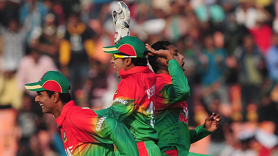 Bangladesh players are ecstatic after winning inside 32 overs