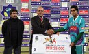 Umar Amin was adjudged the man of the match, Karachi Dolphins v Rawalpindi Rams, Faysal Bank T-20 Cup 2012-13, Lahore, December 2, 2012