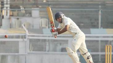 Arindam Das whips one through midwicket on his way to an unbeaten 98