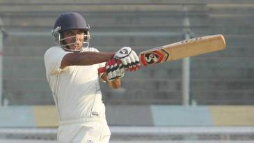 Arindam Das pulls on his way to 98 not out