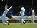 An overjoyed Robin Peterson after dismissing Ricky Ponting
