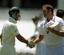 Jacques Kallis shakes hands with Ricky Ponting