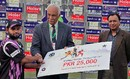 Farrukh Shehzad was the man of the match against Lahore Eagles, Lahore Eagles v Faisalabad Wolves, Faysal Bank T-20 Cup 2012-13, Lahore, December 2, 2012