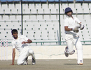 Jiwanjot Singh runs between the wickets