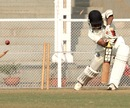 Laxmi Shukla loses his offstump to Abhishek Nayar, Mumbai v Bengal, Ranji Trophy, Group A, Mumbai, 4th day, December 4, 2012
