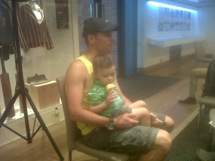 Johan Botha with his son Austin, November 2012