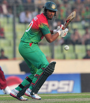 Mahmudullah top scored for Bangladesh with 52, Bangladesh v West Indies, 3rd ODI, Mirpur, December 5, 2012