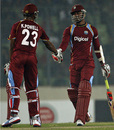 Marlon Samuels and Kieran Powell added 111 for the second wicket