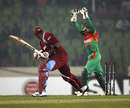 Kieron Pollard is bowled, Bangladesh v West Indies, 3rd ODI, Mirpur, December 5, 2012