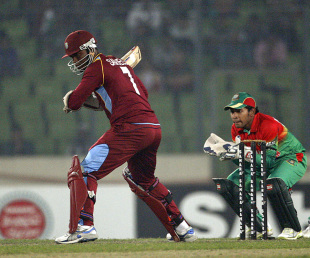 Marlon Samuels played a patient knock of 126, Bangladesh v West Indies, 3rd ODI, Mirpur, December 5, 2012