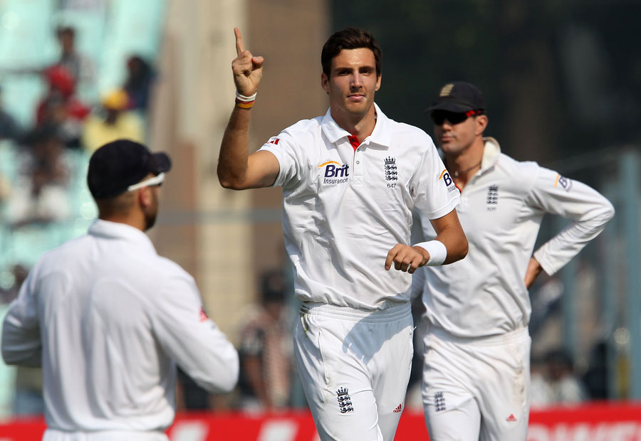 Steven Finn took the final India wicket to fall