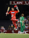 Aaron Finch smacked an unbeaten 111, Melbourne Renegades v Melbourne Stars, BBL, Docklands Stadium, Melbourne, December 7, 2012