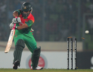 Tamim Iqbal was beaten and bowled, Bangladesh v West Indies, 4th ODI, Mirpur, December 7, 2012