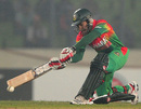 Mushfiqur Rahim featured in a 74-run partnership with Mahmudullah, Bangladesh v West Indies, 4th ODI, Mirpur, December 7, 2012
