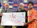 Ahmed Shehzad was the man of the match for Lahore Lions, Lahore Lions v Sialkot Stallions, Faysal Bank T-20 Cup 2012-13, Lahore, December 7, 2012