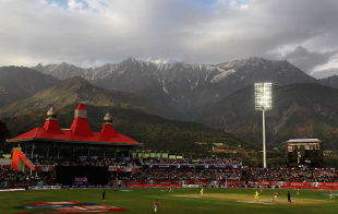 A view of the mountains in Dharamsala, Kings XI Punjab v Chennai Super Kings, IPL, Dharamsala, April 18, 2010