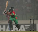 Tamim Iqbal is bowled for 8