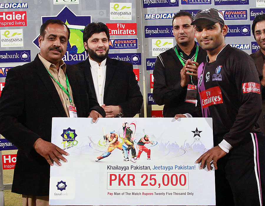 Asif Ali was the man of the match for his knock of 66