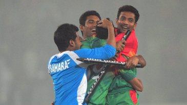 Bangladesh celebrate a tense victory