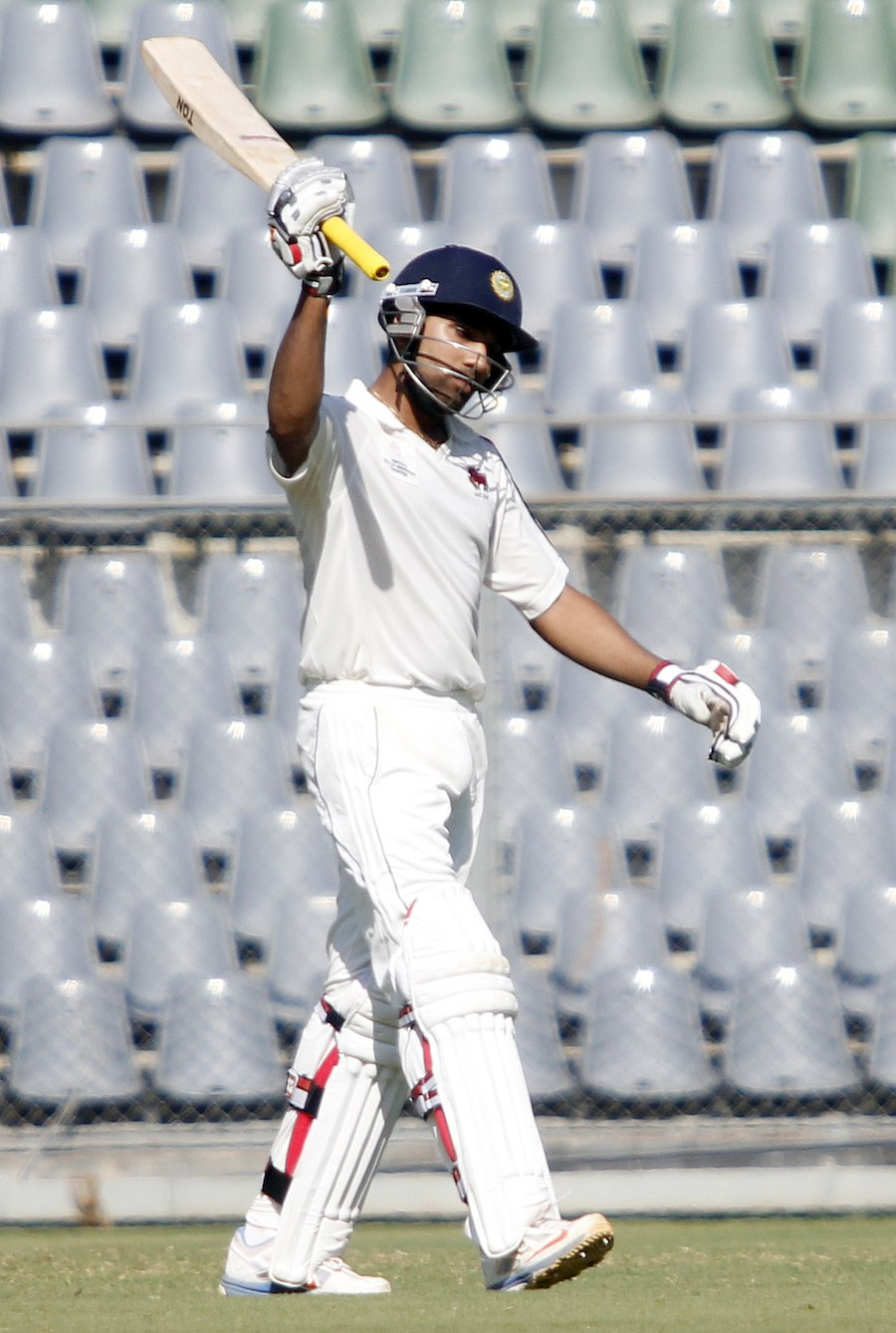 Rohit Sharma celebrates his hundred