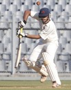 Hiken Shah was unbeaten on 54 at stumps, Mumbai v Punjab, Ranji Trophy, Mumbai, 3rd day, December 10, 2012