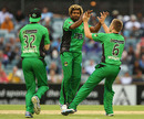 Lasith Malinga took six wickets to help skittle Perth Scorchers out for 69, Perth Scorchers v Melbourne Stars, Big Bash League, Perth, December 12, 2012