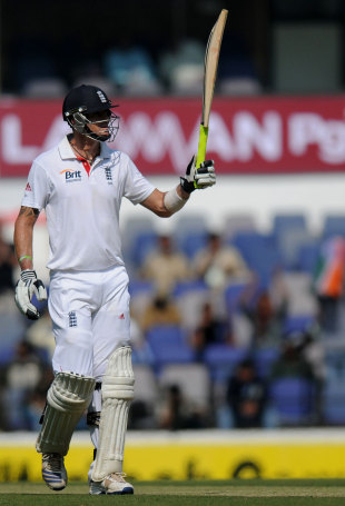 Kevin Pietersen made a vital half-century, India v England, 4th Test, Nagpur, 1st day, December 13, 2012
