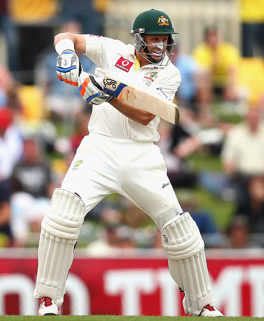 Micheal Hussey guides one behind point