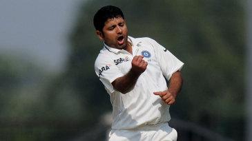 Piyush Chawla celebrates a wicket